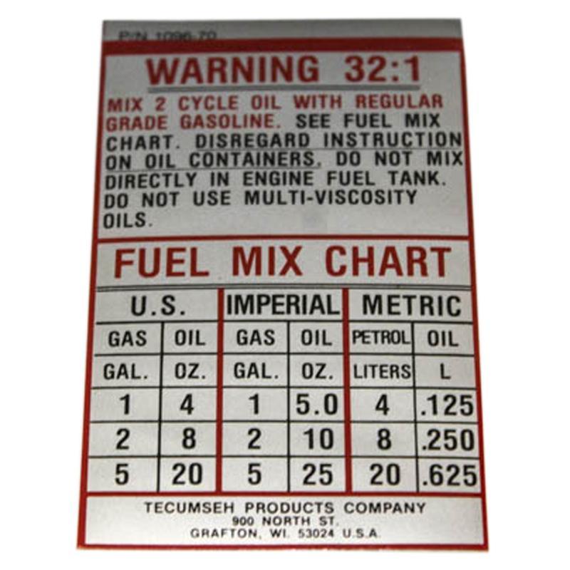 550220 Tecumseh 550220 DECAL Tecumseh Engine Parts Engine